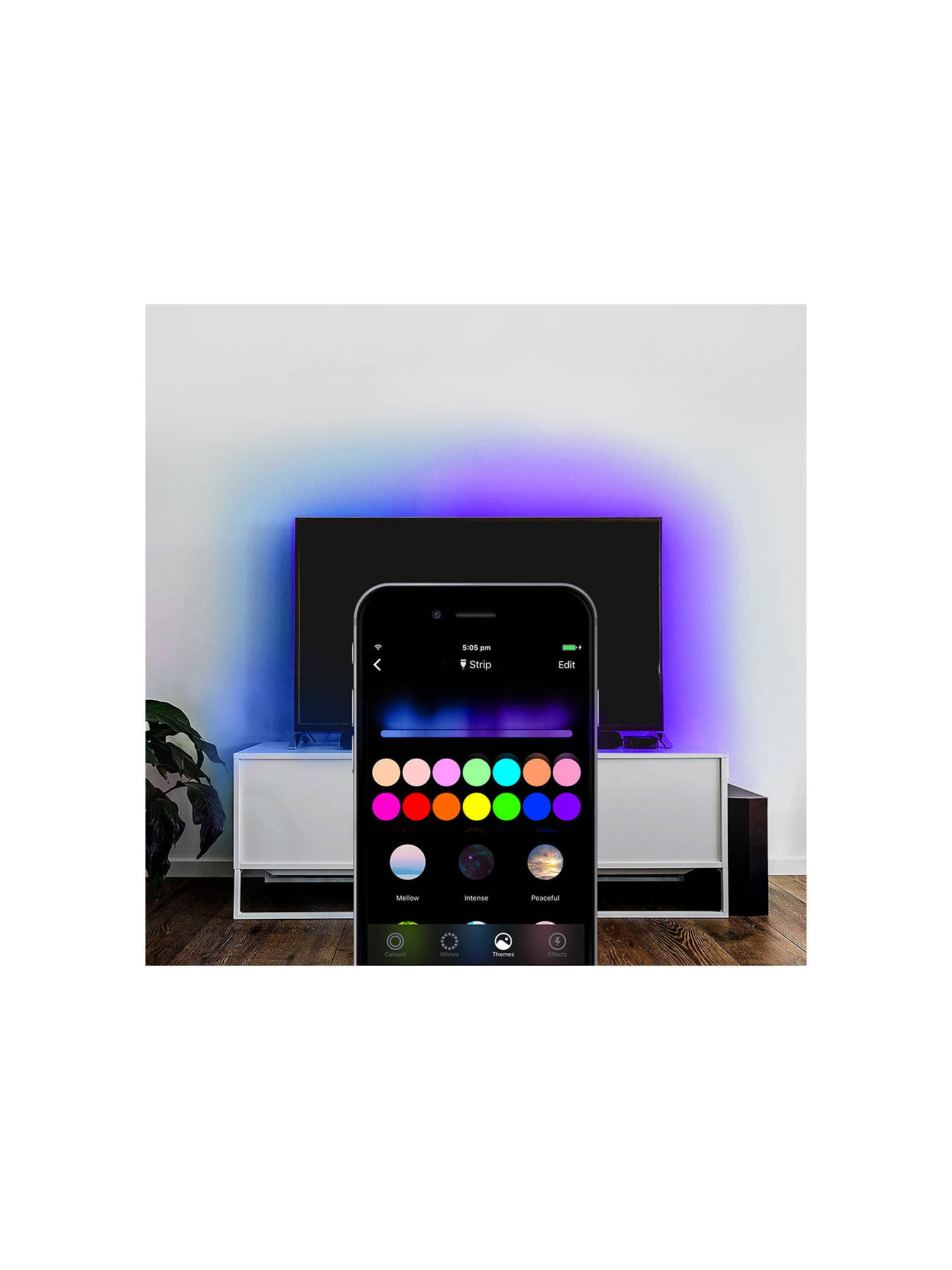 LIFX Z White and Colour Wireless Smart Lighting Adjustable Colour Changing  LED Light Strip & Base Starter Kit with Built-in Wi-Fi, 15W, 2 Metres