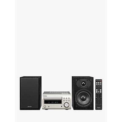Image of Denon D-M41DAB DAB/DAB+/FM/CD Bluetooth Micro System, Silver/Black