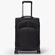 Buy John Lewis 4-Wheel Noir Luxury 55cm Cabin Suitcase, Black Online at johnlewis.com