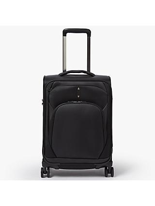 John Lewis & Partners 4-Wheel Noir Luxury 55cm Cabin Suitcase, Black
