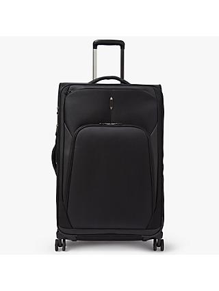 John Lewis & Partners 4-Wheel Noir Luxury 76cm Large Suitcase, Black