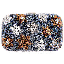 Buy From St Xavier Stars Box Clutch, Blue/Metallic Online at johnlewis.com