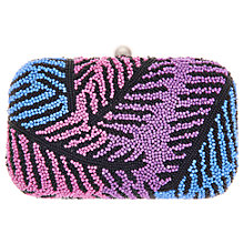 Buy From St Xavier Leaf Box Clutch, Pink/ Blue Online at johnlewis.com