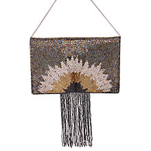Buy From St Xavier Whitney Tassel Foldover Clutch, Multi Online at johnlewis.com