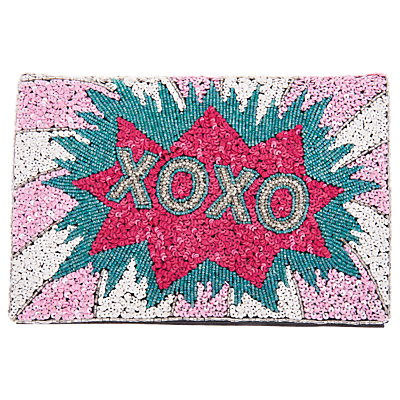Product photo of From st xavier xoxo foldover clutch multi
