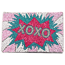 Buy From St Xavier XOXO Foldover Clutch, Multi Online at johnlewis.com