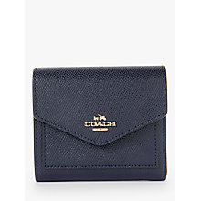 Buy Coach Crossgrain Leather Small Purse, Navy Online at johnlewis.com