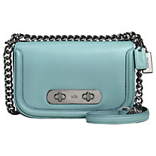 Buy Coach Swagger 20 Glovetanned Leather Shoulder Bag, Cloud Online at johnlewis.com