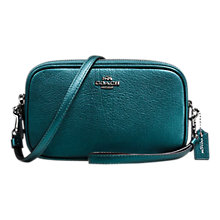 Buy Coach Leather Cross Body Clutch Bag Online at johnlewis.com