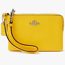 Buy Coach Crossgrain Leather Small Wristlet Purse Online at johnlewis.com