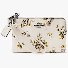 Buy Coach Leather Prairie Print Small Wristlet Purse, Chalk Online at johnlewis.com