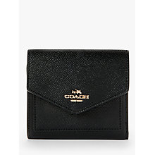 Buy Coach Small Leather Wallet, Black Online at johnlewis.com