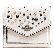 Buy Coach Crossgrain Leather Star Rivets Small Purse, Chalk Online at johnlewis.com