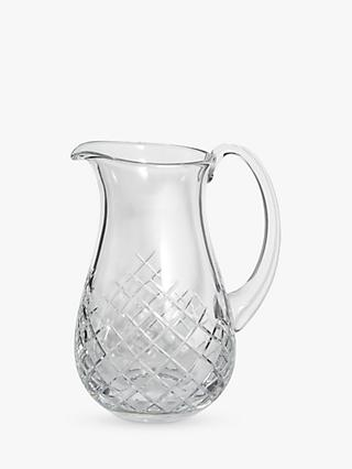 Soho Home Barwell Cut Lead Crystal Glass Pitcher, 1.2L