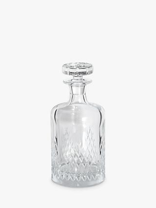 Soho Home Barwell Small Cut Lead Crystal Glass Decanter, 350ml