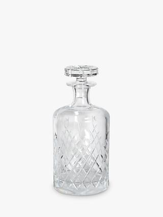 Soho Home Barwell Large Cut Lead Crystal Glass Decanter, 750ml