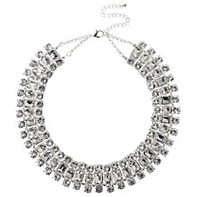 Buy Adele Marie 3 Row Set Collar Necklace, Silver Online at johnlewis.com