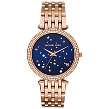 Buy Michael Kors Darci MK3728 Starry Night Women's Bracelet Strap Watch, Rose Gold Online at johnlewis.com