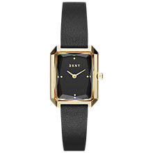Buy DKNY NY2644 Women's City Spirit Leather Strap Watch, Black Online at johnlewis.com