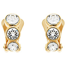 Buy Finesse Triple Swarovski Crystal Clip-On Earrings, Gold Online at johnlewis.com