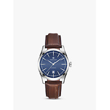 Buy Hamilton H42415541 Men's American Classic Automatic Date Leather Strap Watch, Dark Brown/Blue Online at johnlewis.com