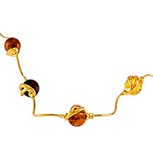 Buy Be-Jewelled Amber Snake Chain Necklace, Gold/Multi Online at johnlewis.com