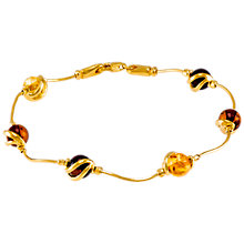 Buy Be-Jewelled Cabochon Amber Snake Chain Bracelet, Multi Online at johnlewis.com