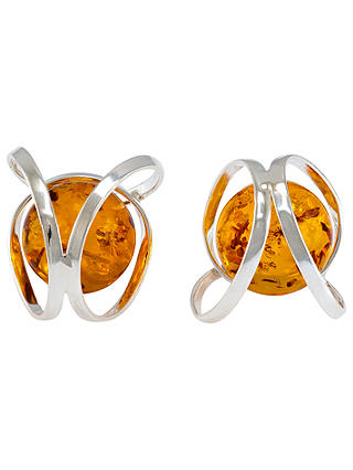 Buy Be-Jewelled Orbital Amber Stud Earrings, Cognac Online at johnlewis.com