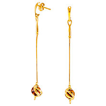 Buy Be-Jewelled Amber Snake Chain Drop Earrings, Gold/Cognac Online at johnlewis.com