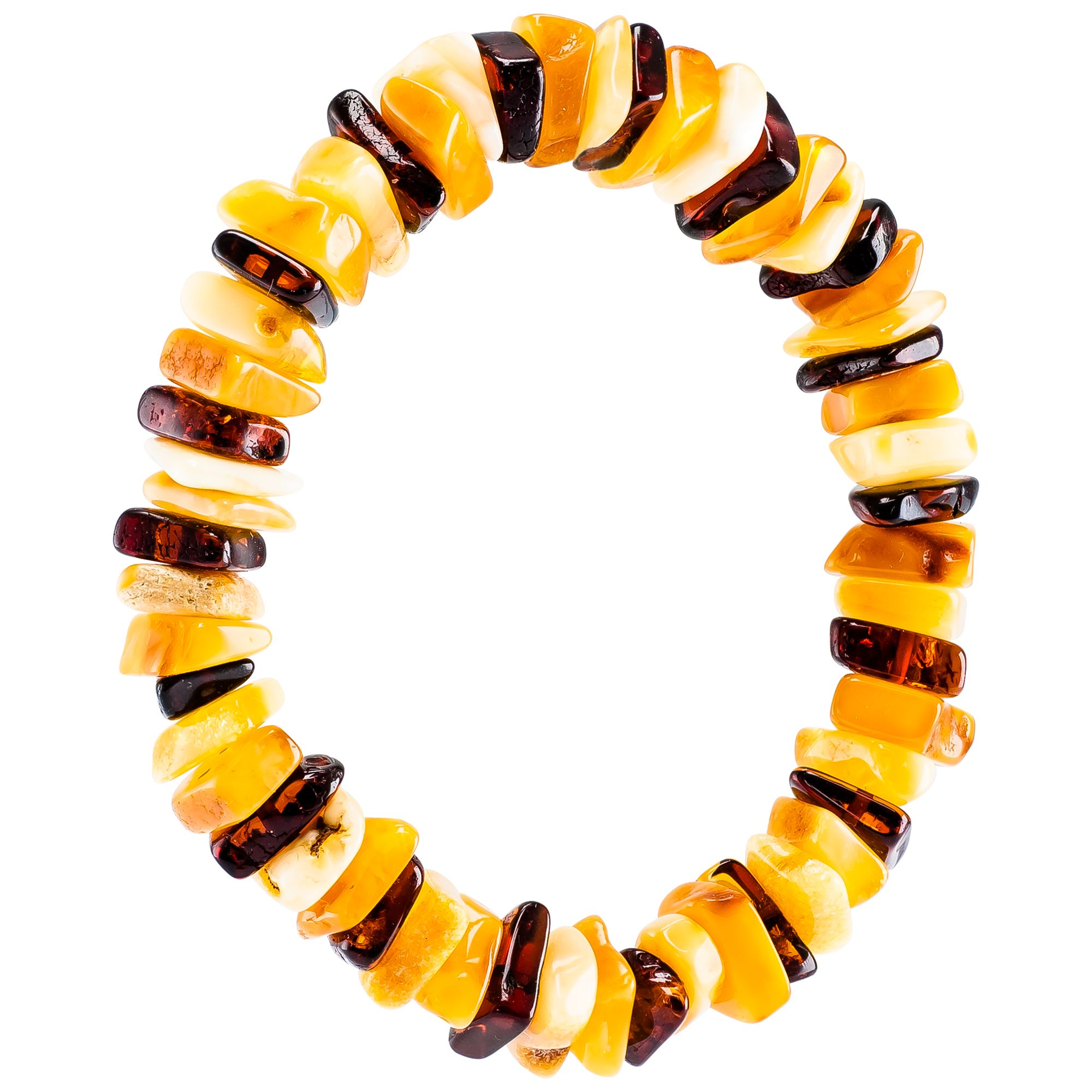 Be-Jewelled Be-Jewelled Amber Stretch Bracelet, Multi