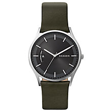 Buy Skagen SKW6394 Women's Leather Strap Watch, Dark Moss Green Online at johnlewis.com