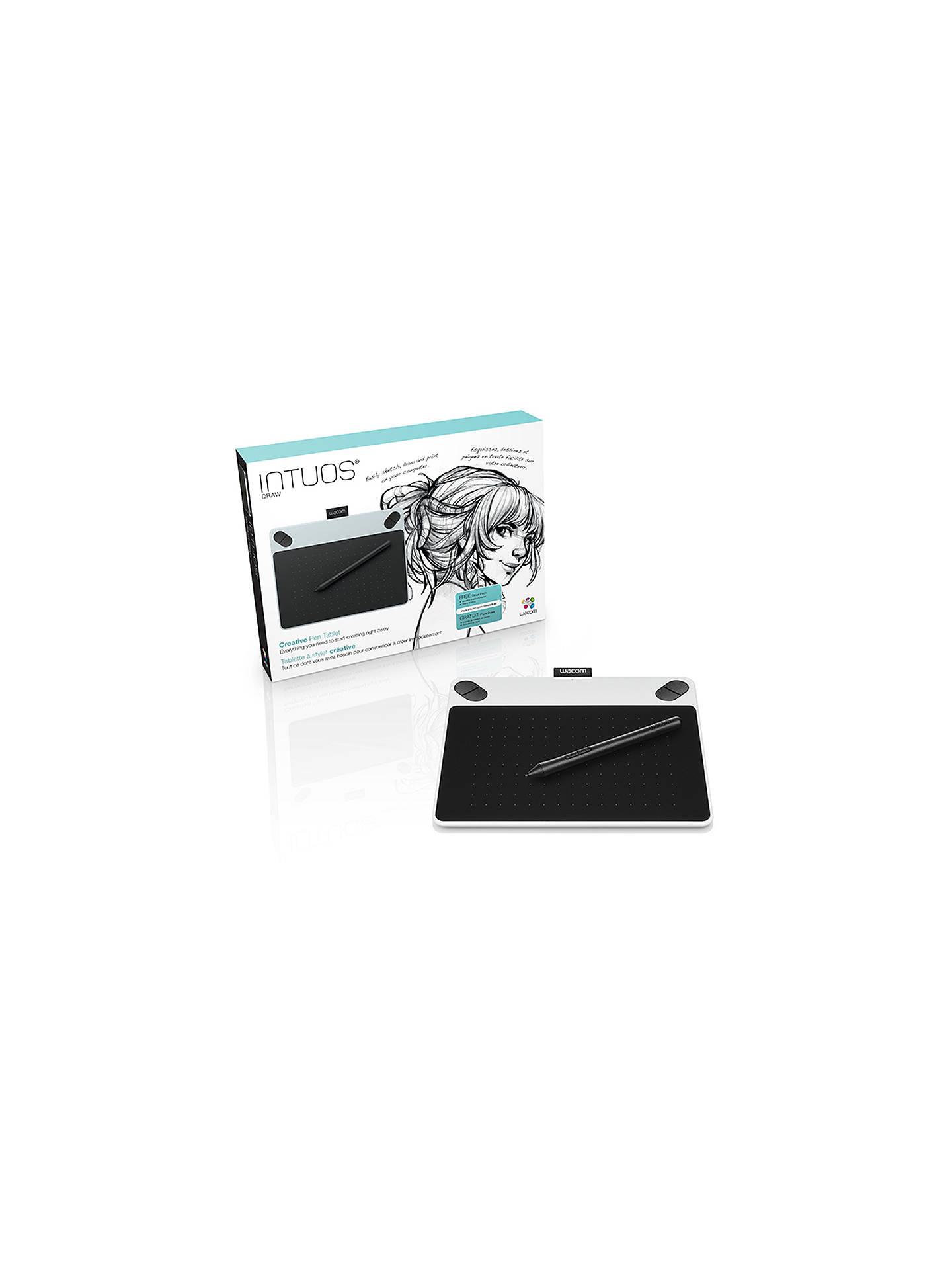 Wacom Intuos Draw Pen Tablet Small Black At John Lewis Partners