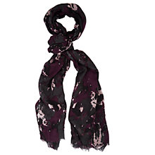 Buy Chesca Abstract Printed Scarf, Grey/Berry Online at johnlewis.com