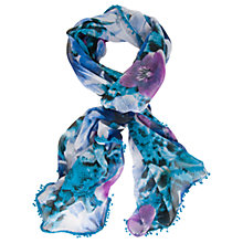 Buy Chesca Floral Print Scarf, Purple/Multi Online at johnlewis.com