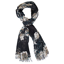 Buy Chesca Soft Floral Print Scarf, Navy Online at johnlewis.com