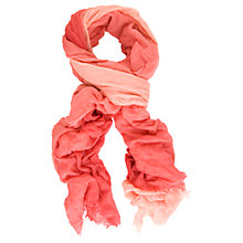Buy Chesca Colour Block Voile Scarf, Red/Coral Online at johnlewis.com