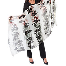 Buy Chesca Abstract Print Scarf, Grey/Pink Online at johnlewis.com