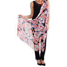 Buy Chesca Large Floral Print Scarf, Pink Coral Online at johnlewis.com