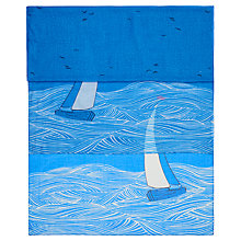 Buy Hobbs Honey Sailing Boat Print Scarf, Blue Multi Online at johnlewis.com