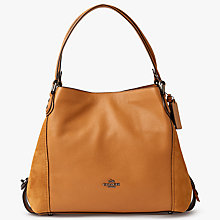 Buy Coach Edie 31 Polished Pebble Leather Shoulder Bag Online at johnlewis.com