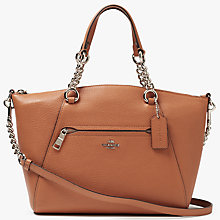 Buy Coach Prarie Chain Leather Satchel Bag, Caramel Online at johnlewis.com