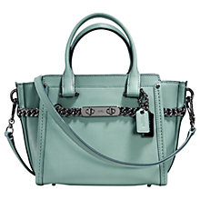 Buy Coach Swagger 21 Glovetanned Leather Shoulder Bag, Cloud Online at johnlewis.com