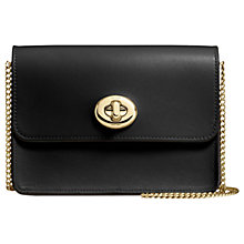 Buy Coach Bowery Leather Turnlock Chain Across Body Bag Online at johnlewis.com