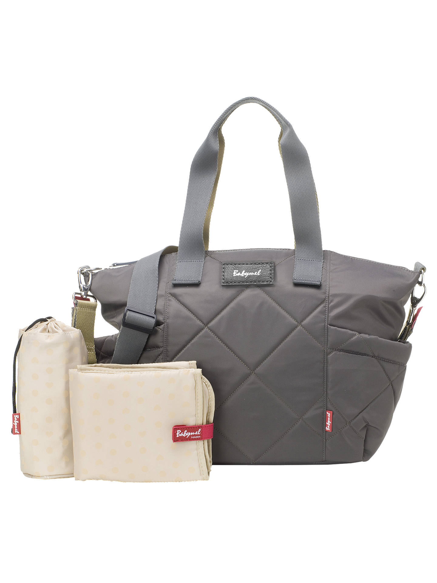 310c966a5bc ... BuyBabymel Evie Quilted Changing Bag, Charcoal Online at johnlewis.com  ...