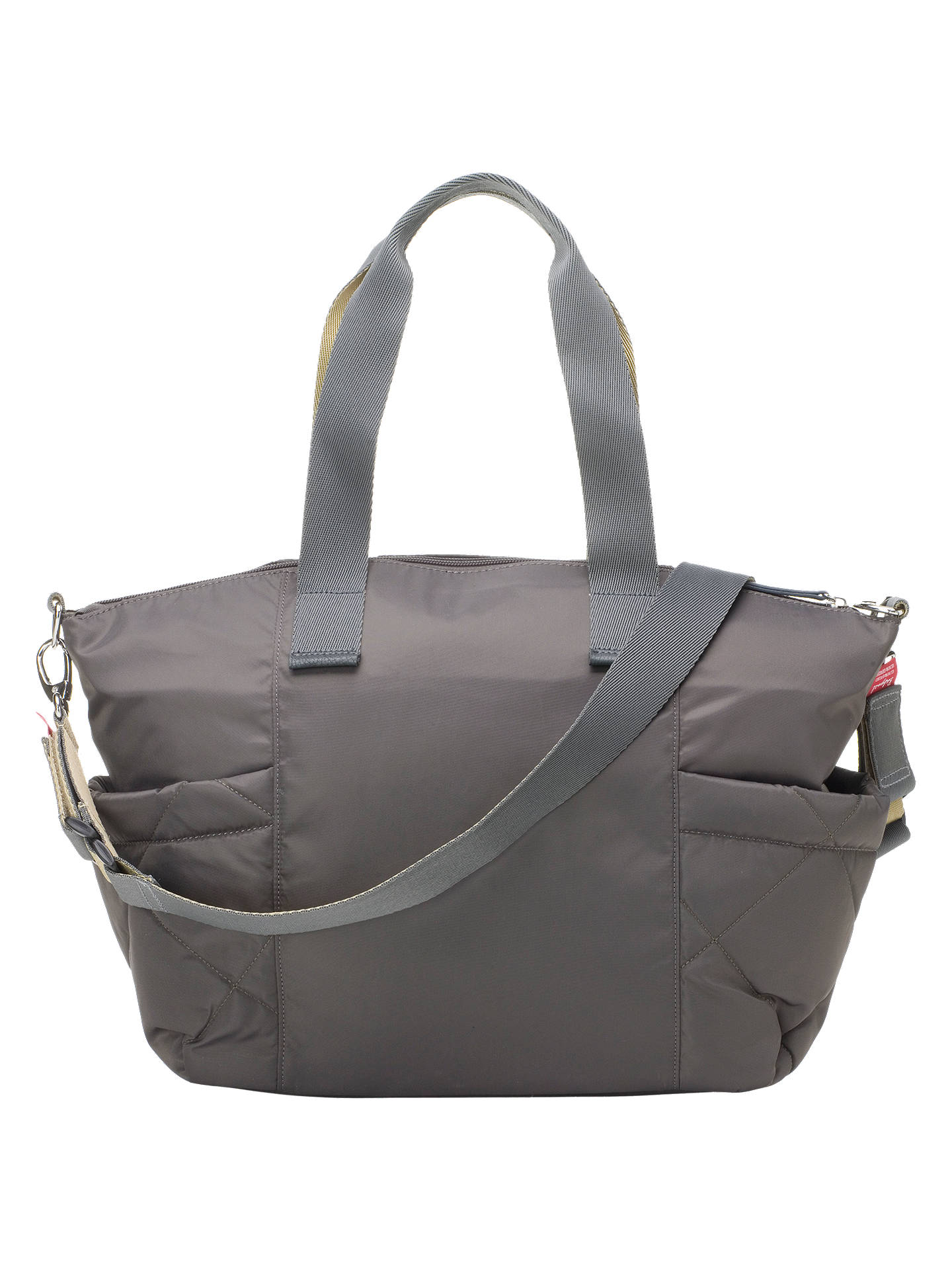 639dc7cd4dc ... BuyBabymel Evie Quilted Changing Bag, Charcoal Online at johnlewis.com
