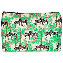 Buy Fenella Smith Zebra and Palm Tree Canvas Make Up Bag, Small Online at johnlewis.com