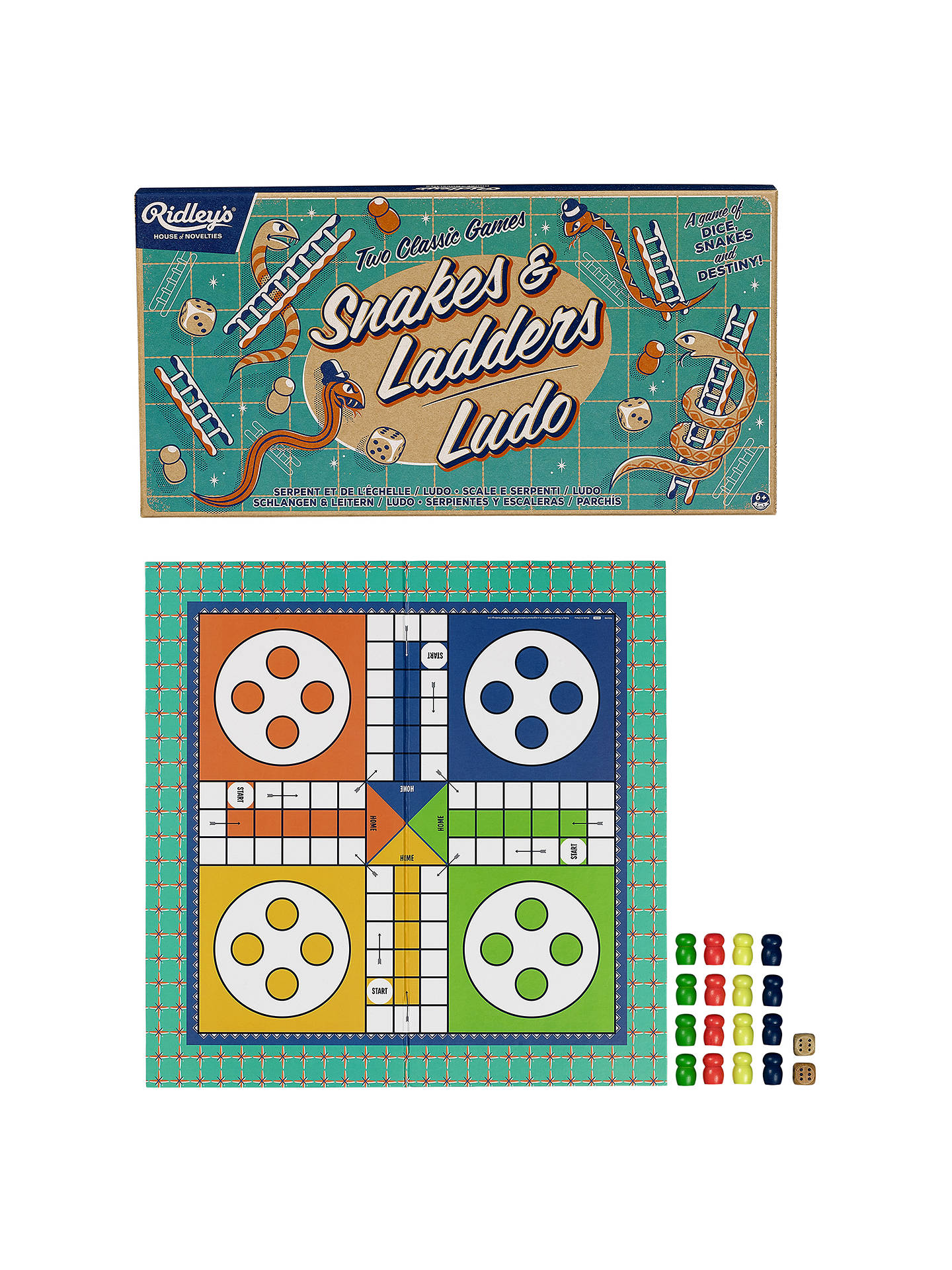 3e709d6bd381 ... Buy Ridley's Two Classic Games Snakes And Ladders & Ludo Online at  johnlewis. ...