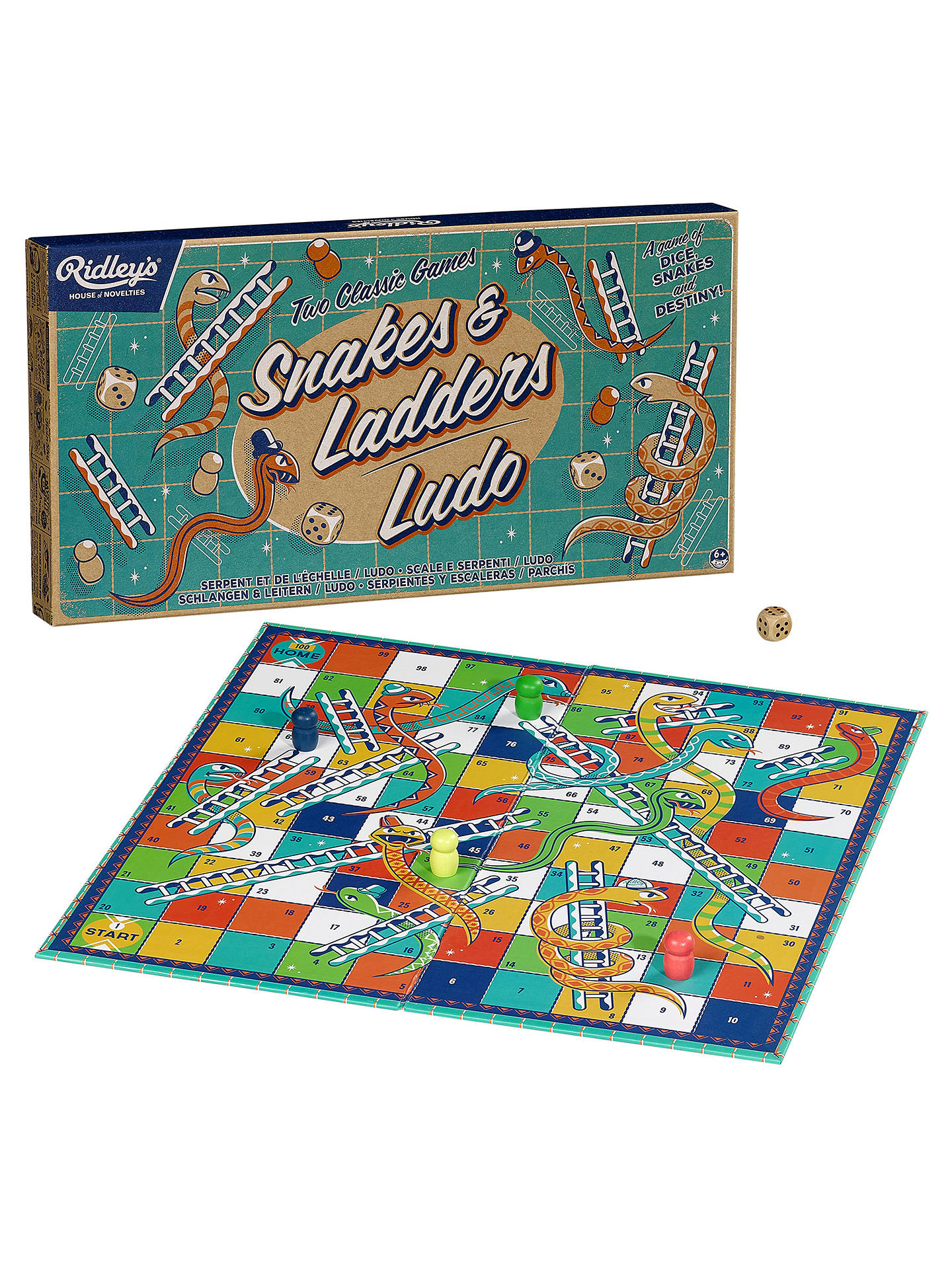 563144471104 ... Buy Ridley's Two Classic Games Snakes And Ladders & Ludo Online at  johnlewis.com