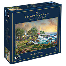 Buy Gibsons Seaside Haven Kinkade Jigsaw Puzzle, 1000 Piece Online at johnlewis.com