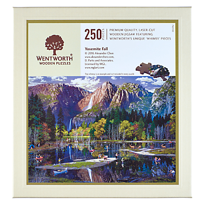 Image of Wentworth Wooden Puzzles Yosemite Falls Jigsaw Puzzle, 250 pieces